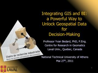 Integrating GIS and  BI: a  Powerful Way to Unlock Geospatial Data for Decision-Making