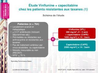 �tude Vinflunine  +  capecitabine chez les patients  r�sistantes  aux  taxanes (1)
