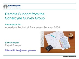 Remote Support from the Sonardyne Survey Group  Presentation for: Aquadyne Technical Awareness Seminar 2008     Edward M