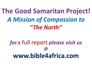 Scripture  Reading: Luke  10:25-37 Matthew  25:31-46