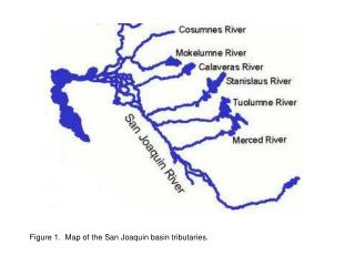 Figure 1. Map of the San Joaquin basin tributaries.