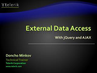External Data Access