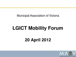 LGICT Mobility Forum