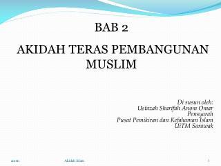 BAB 2  AKIDAH TERAS PEMBANGUNAN MUSLIM