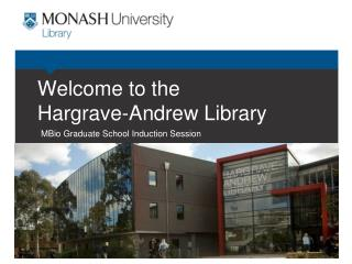 Welcome to the  Hargrave -Andrew Library
