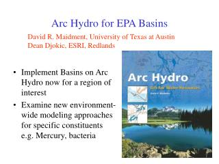 Arc Hydro for EPA Basins