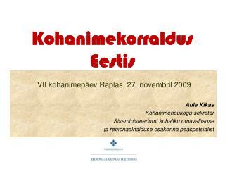 Kohanimekorraldus Eestis