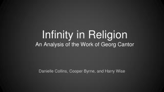 Infinity in Religion An Analysis of the Work of Georg Cantor