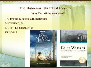 The Holocaust Unit Test Review