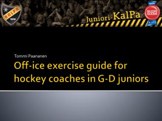 Off-ice exercise guide for hockey coaches in G-D juniors