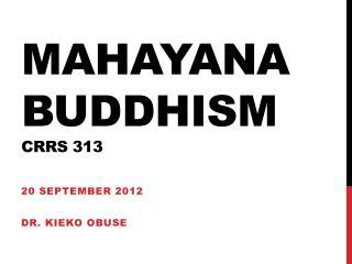 Mahayana Buddhism crrs  313