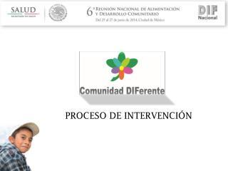PROCESO DE INTERVENCIÓN