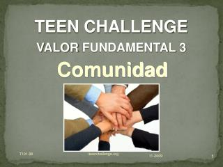 TEEN CHALLENGE  VALOR  FUNDAMENTAL  3