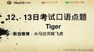 Tiger 新浪微博:小马过河姚飞虎
