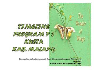 TIMELINE  PROGRAM P 2 KUSTA KAB. MALANG
