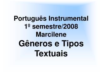 Portugu s Instrumental 1  semestre