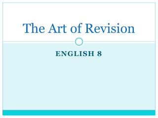 The Art of Revision