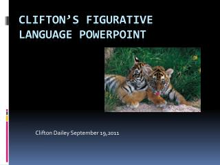 Clifton's Figurative Language PowerPoint