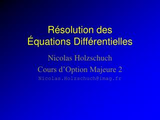R solution des   quations Diff rentielles
