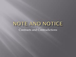 Note and Notice