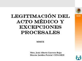 LEGITIMACI N DEL ACTO M DICO y excepciones procesales   MMix