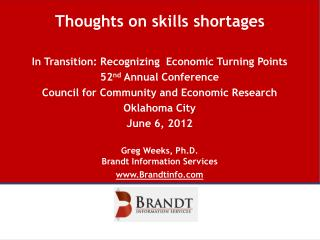 Thoughts on skills shortages
