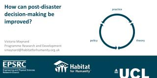How can post-disaster decision-making be improved?