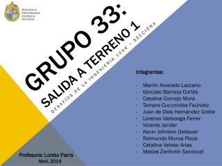 Grupo 33:  salida a terreno 1