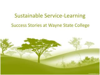 Sustainable  Service-Learning