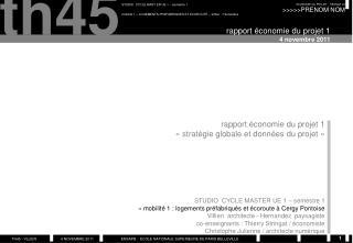 rapport économie du projet 1 4 novembre 2011