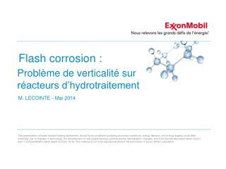 Flash corrosion :