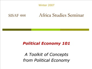 SISAF 444             Africa Studies Seminar