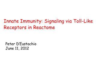 Innate Immunity: Signaling via Toll-Like Receptors in Reactome
