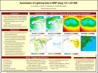 Assimilation of Lightning  Data In  WRF Using 1-D + 4-D VAR