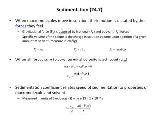 Sedimentation (24.7)