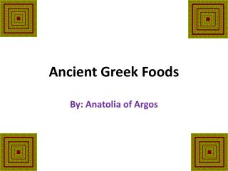 Ancient Greek Foods