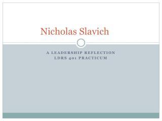 Nicholas  Slavich