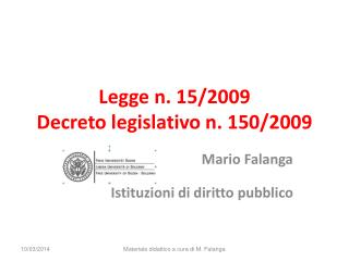 Legge n. 15