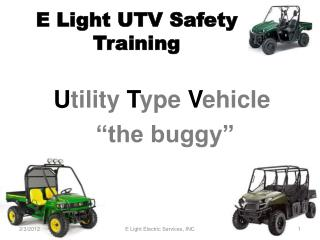E Light UTV Safety Training