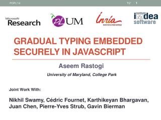 Gradual typing Embedded securely in javascript