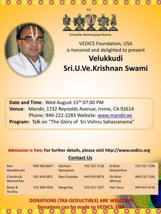 Srimathe Ramanujaya Nama: