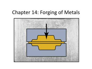 Chapter 14: Forging of Metals