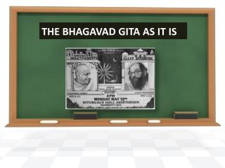 THE BHAGAVAD GITA AS IT IS