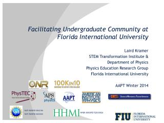 Facilitating Undergraduate Community at Florida International  University