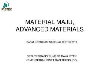 MATERIAL MAJU, ADVANCED MATERIALS