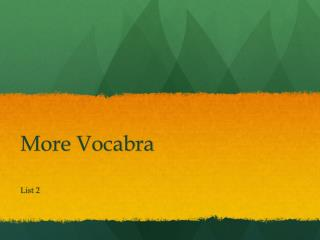 More  Vocabra