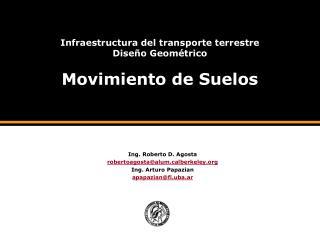 Infraestructura del transporte terrestre Dise o Geom trico  Movimiento de Suelos