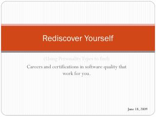 Rediscover Yourself