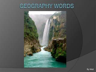 Geography Words