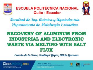 Recovery of  aluminum from  industrial and  electronic waste via melting with salt  flux